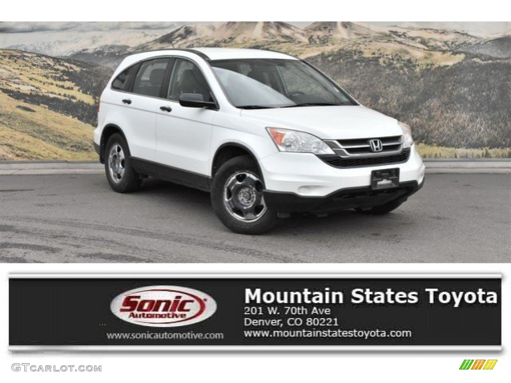 2010 CR-V LX AWD - Taffeta White / Gray photo #1