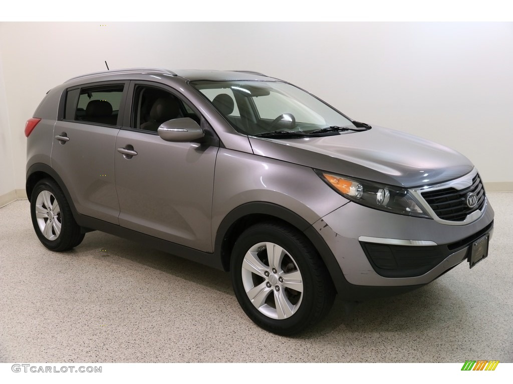 2011 Sportage LX - Mineral Silver / Alpine Gray photo #1