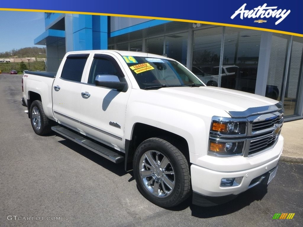 2014 Silverado 1500 High Country Crew Cab 4x4 - White Diamond Tricoat / High Country Saddle photo #1
