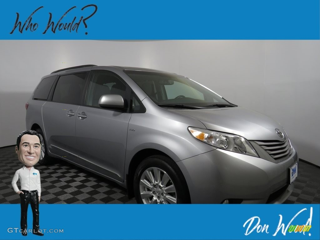 2017 Sienna XLE AWD - Silver Sky Metallic / Ash photo #1
