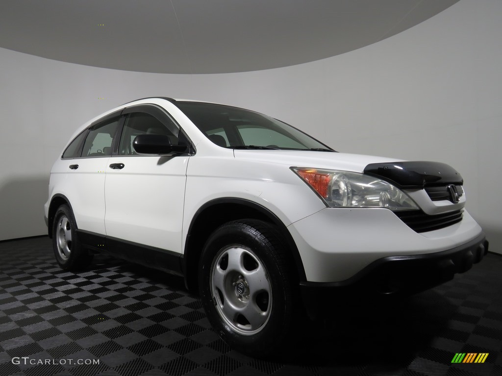 2008 CR-V LX 4WD - Taffeta White / Ivory photo #23