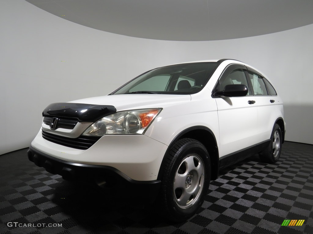 2008 CR-V LX 4WD - Taffeta White / Ivory photo #25