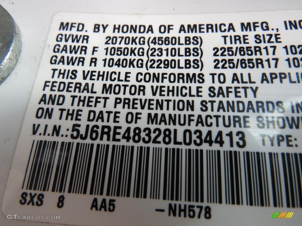 2008 CR-V LX 4WD - Taffeta White / Ivory photo #31