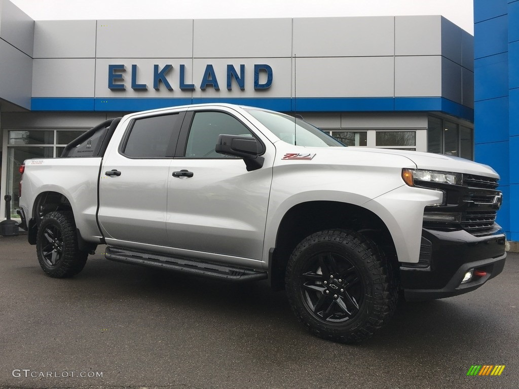 2019 Silverado 1500 LT Z71 Trail Boss Crew Cab 4WD - Silver Ice Metallic / Jet Black photo #1