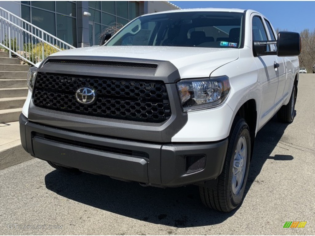 2019 Tundra SR Double Cab 4x4 - Super White / Graphite photo #1