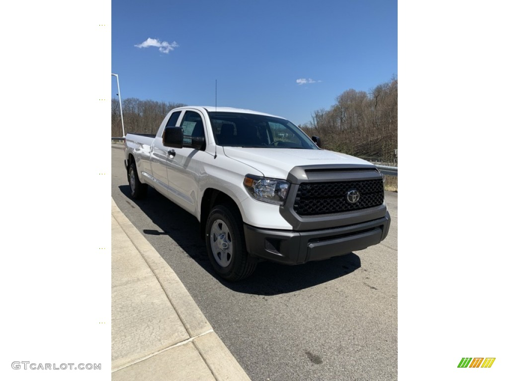 2019 Tundra SR Double Cab 4x4 - Super White / Graphite photo #3