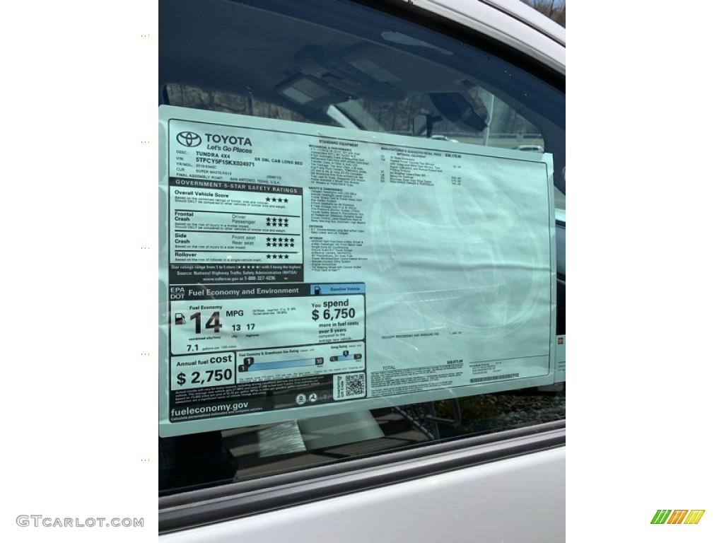 2019 Tundra SR Double Cab 4x4 - Super White / Graphite photo #20