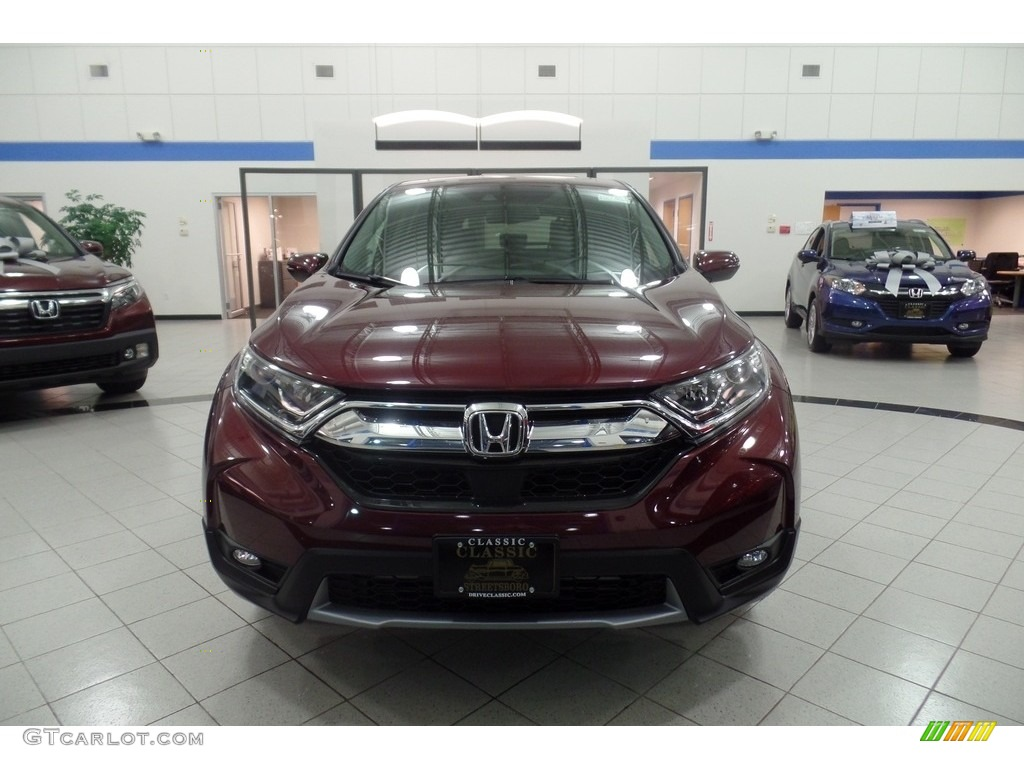 2019 CR-V EX-L AWD - Basque Red Pearl II / Gray photo #3