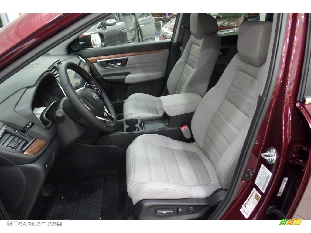 2019 CR-V EX-L AWD - Basque Red Pearl II / Gray photo #8