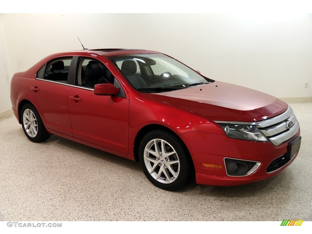 2012 Fusion SEL - Red Candy Metallic / Charcoal Black photo #1