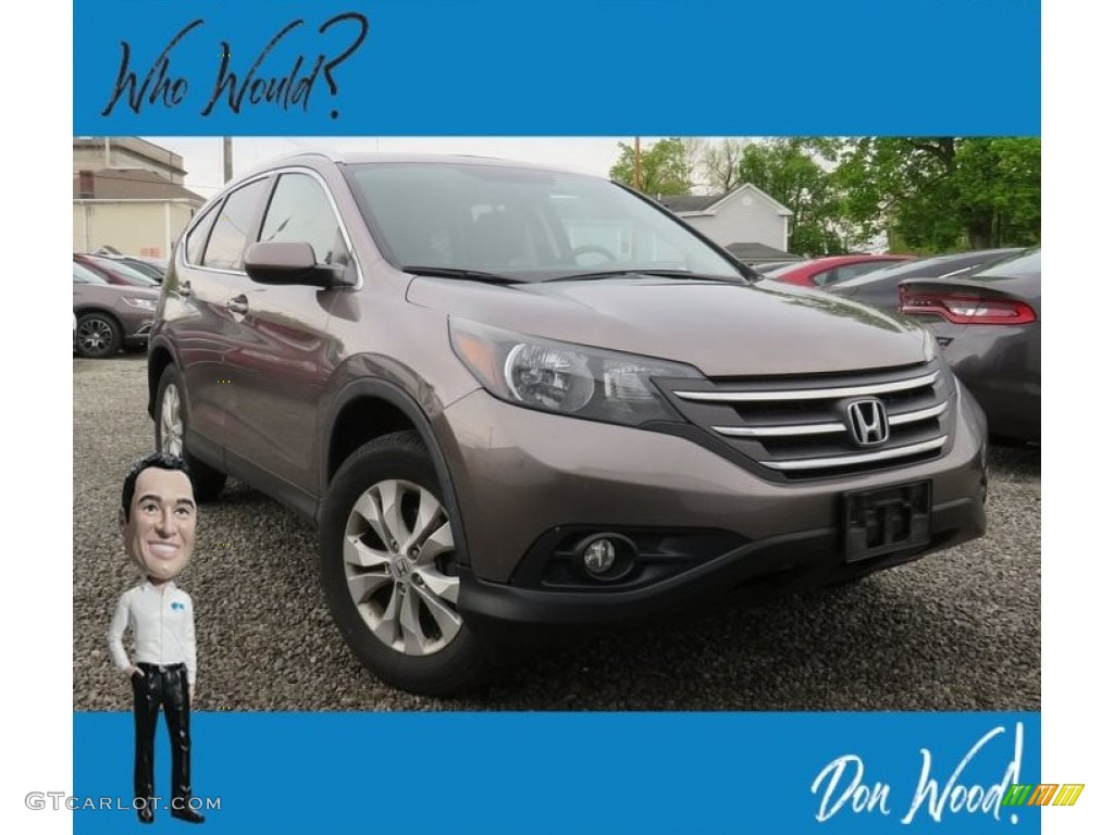 2012 CR-V EX-L 4WD - Alabaster Silver Metallic / Black photo #1