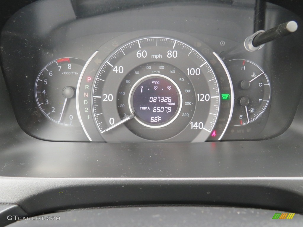 2012 CR-V EX-L 4WD - Alabaster Silver Metallic / Black photo #20