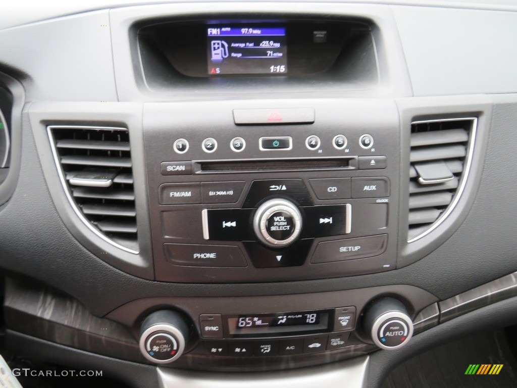 2012 CR-V EX-L 4WD - Alabaster Silver Metallic / Black photo #27
