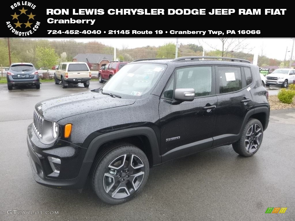 2019 Renegade Limited 4x4 - Black / Black photo #1