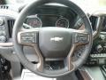 Jet Black/Umber Steering Wheel Photo for 2019 Chevrolet Silverado 1500 #133124615