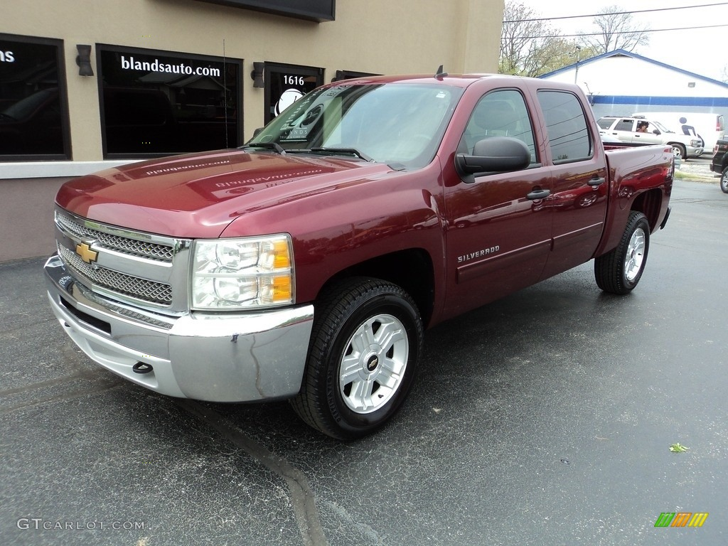 2013 Silverado 1500 LT Crew Cab 4x4 - Deep Ruby Metallic / Ebony photo #2