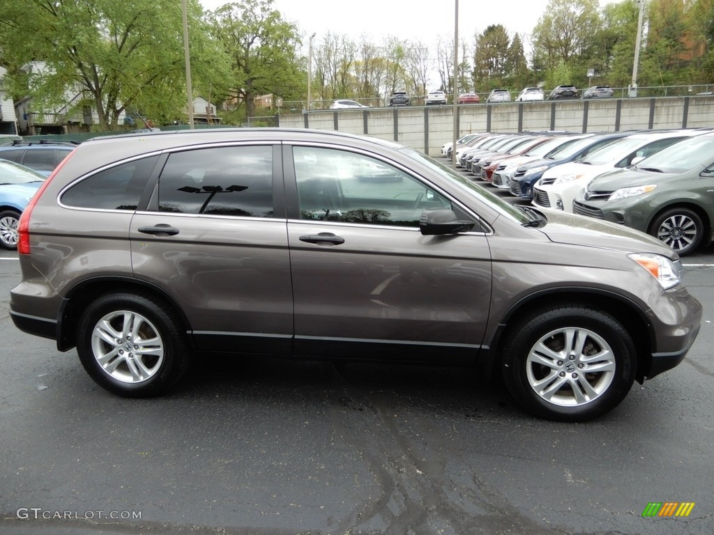 2010 CR-V EX AWD - Alabaster Silver Metallic / Black photo #2