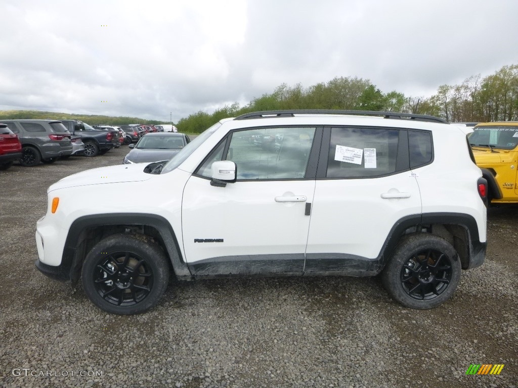 2019 Renegade Latitude 4x4 - Alpine White / Black photo #2