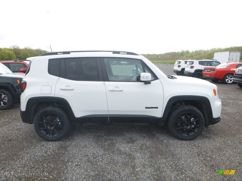 2019 Renegade Latitude 4x4 - Alpine White / Black photo #6