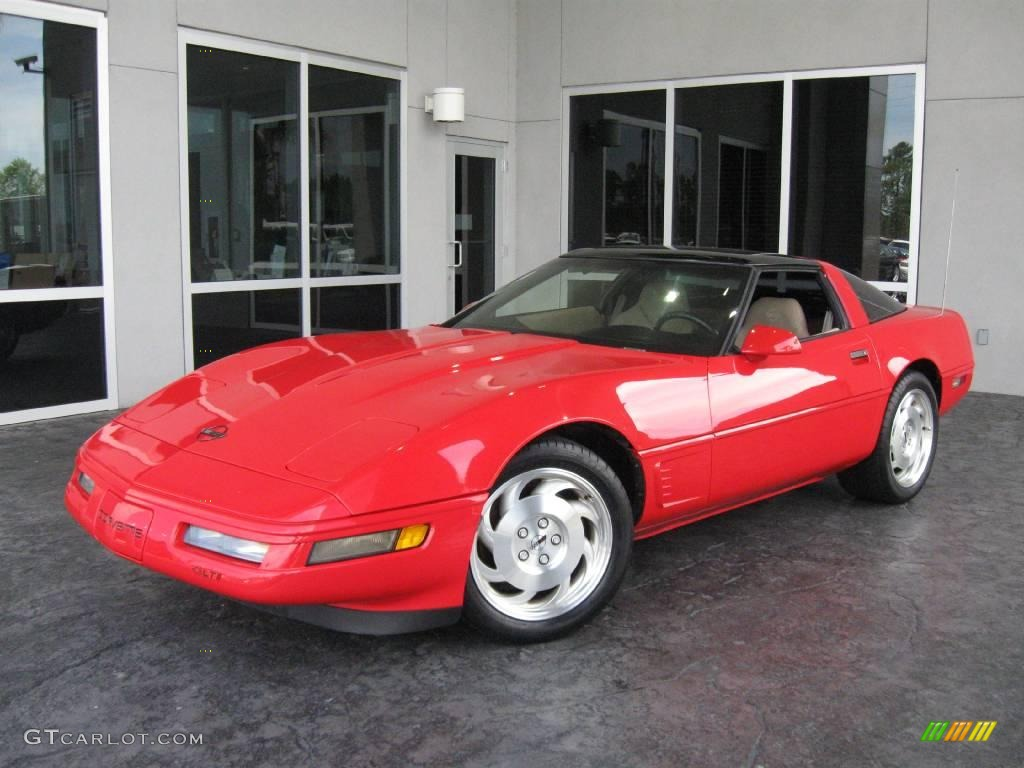 1996 Corvette Coupe Torch Red Light Beige Photo 1