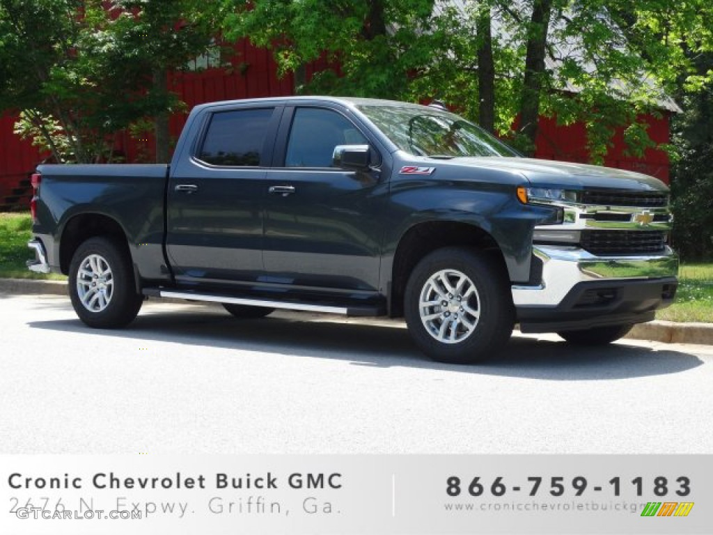 2019 Silverado 1500 LT Z71 Crew Cab 4WD - Shadow Gray Metallic / Jet Black photo #1