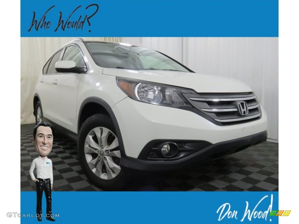 2013 CR-V EX-L AWD - White Diamond Pearl / Gray photo #1