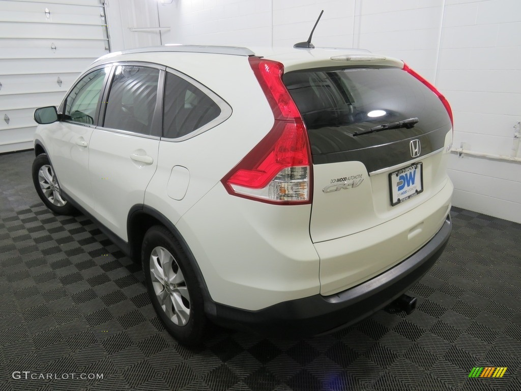 2013 CR-V EX-L AWD - White Diamond Pearl / Gray photo #13