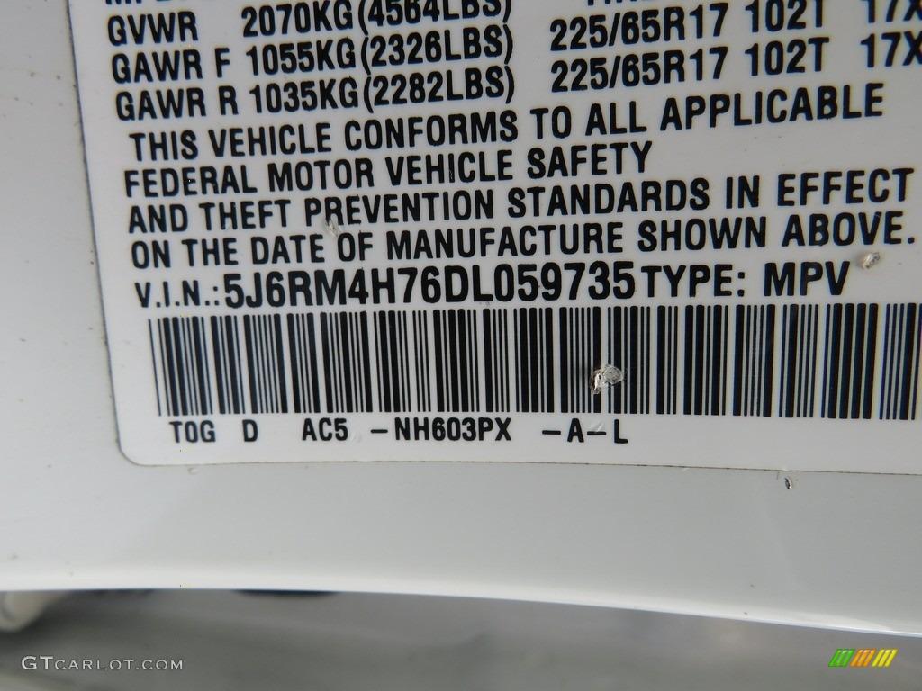 2013 CR-V EX-L AWD - White Diamond Pearl / Gray photo #42