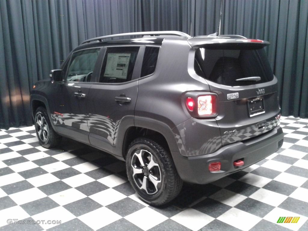 2019 Renegade Trailhawk 4x4 - Granite Crystal Metallic / Black photo #8
