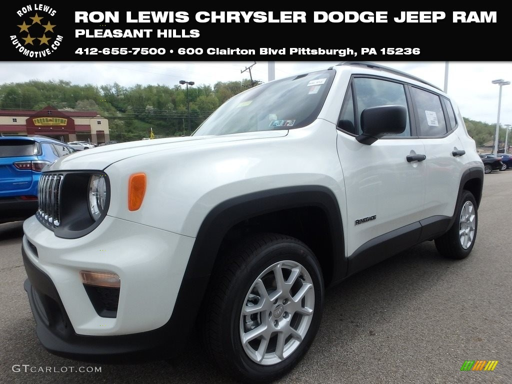 2019 Renegade Sport 4x4 - Alpine White / Black photo #1
