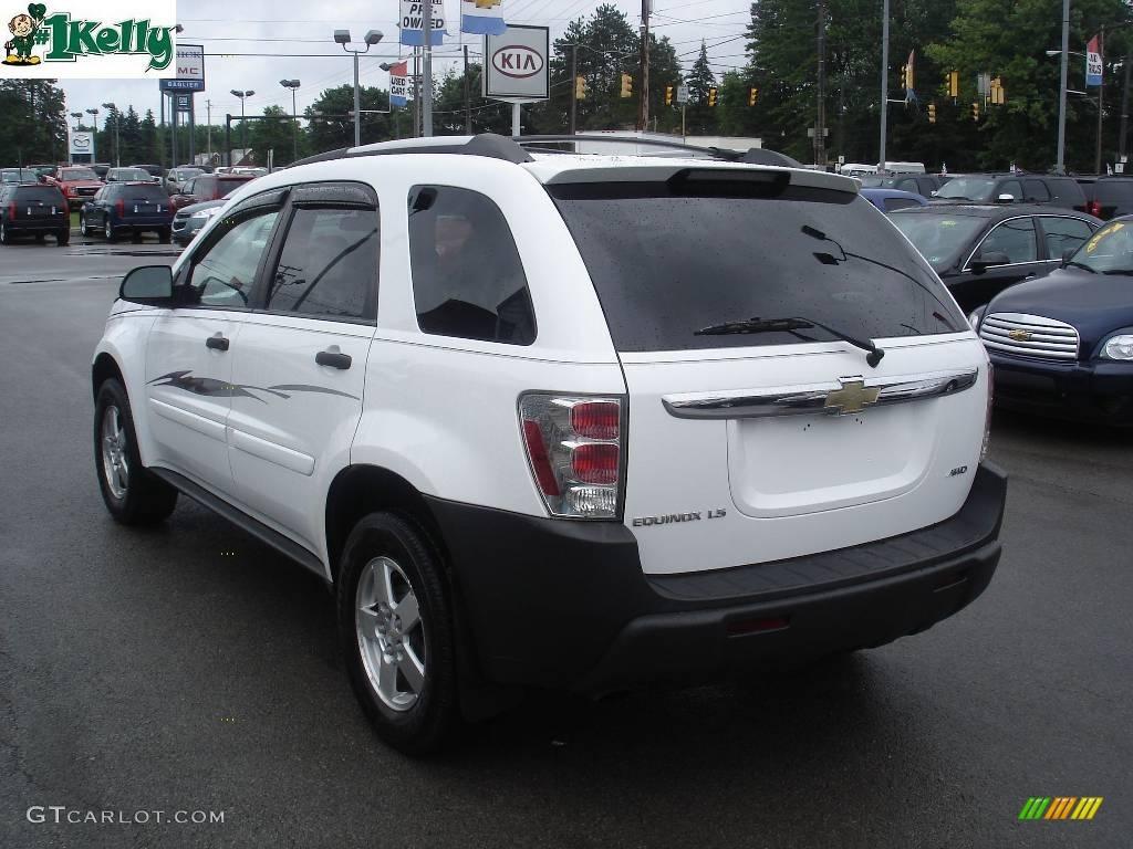 2005 Summit White Chevrolet Equinox Ls Awd 13308985 Photo 4 Gtcarlot Com Car Color Galleries