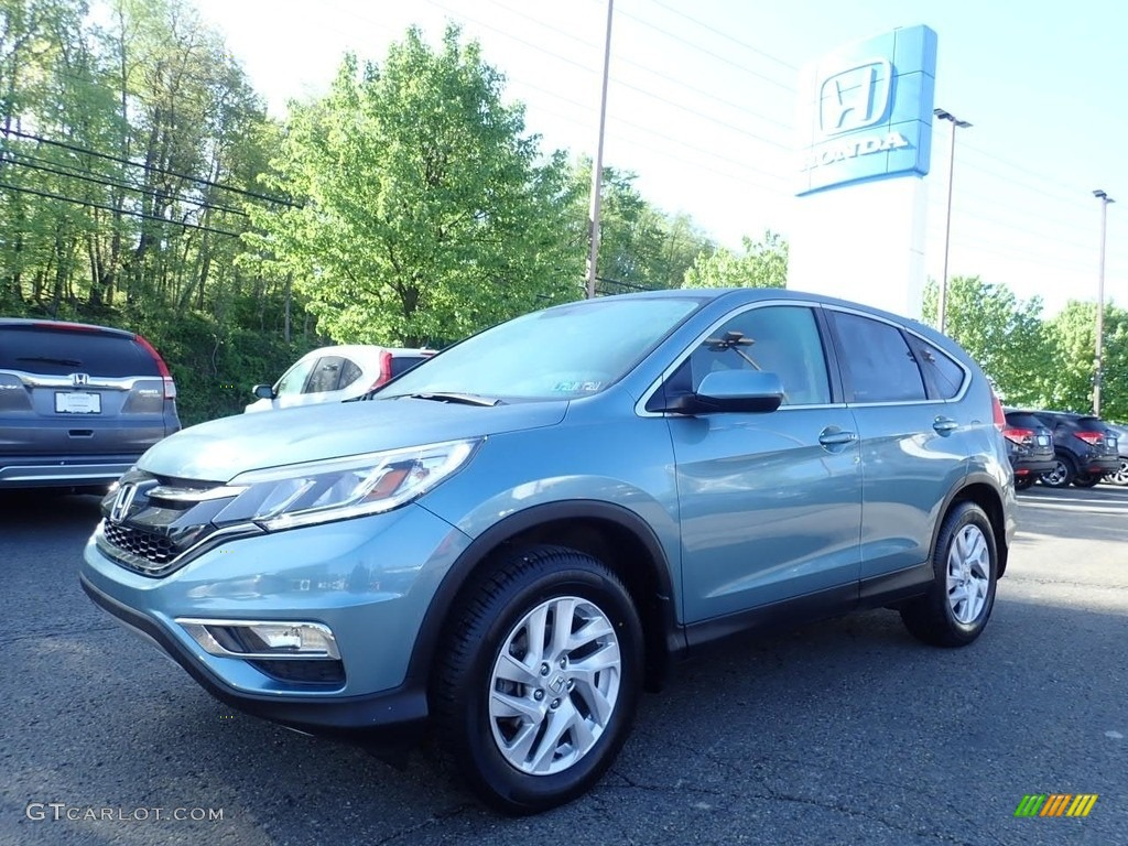 2016 CR-V EX AWD - Mountain Air Metallic / Black photo #1