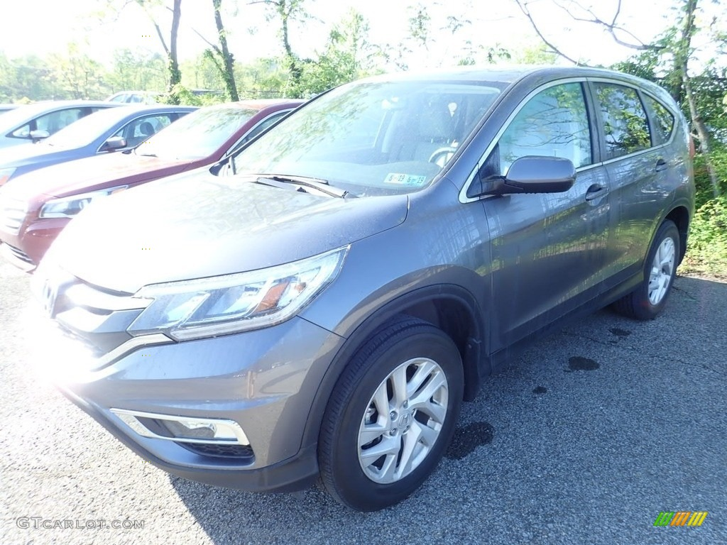 2016 CR-V EX AWD - Modern Steel Metallic / Black photo #1