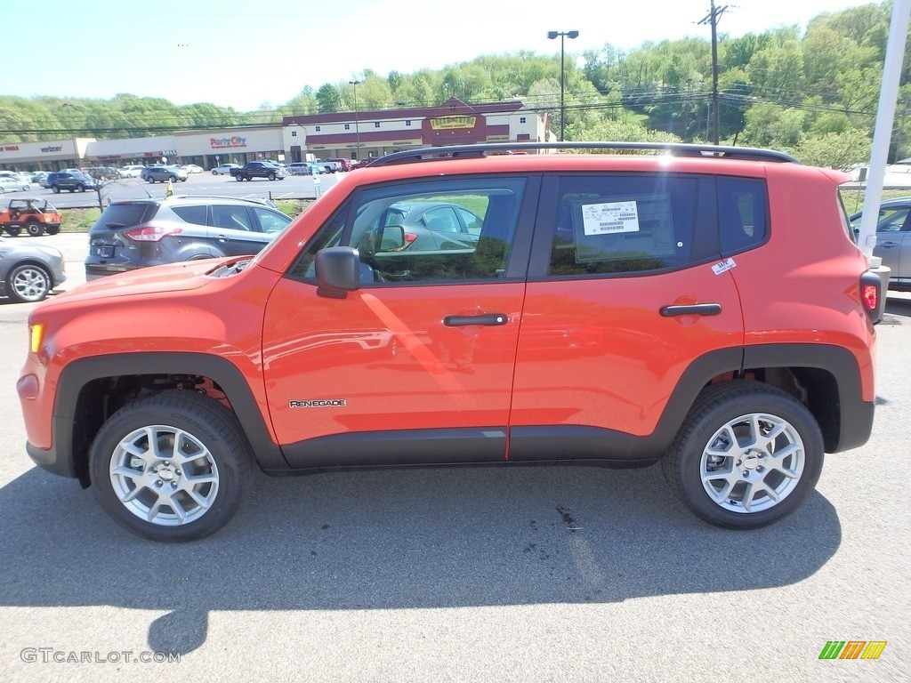 2019 Renegade Sport 4x4 - Omaha Orange / Black photo #2