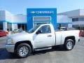 2013 Silver Ice Metallic Chevrolet Silverado 1500 Work Truck Regular Cab 4x4  photo #1