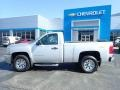 2013 Silver Ice Metallic Chevrolet Silverado 1500 Work Truck Regular Cab 4x4  photo #4