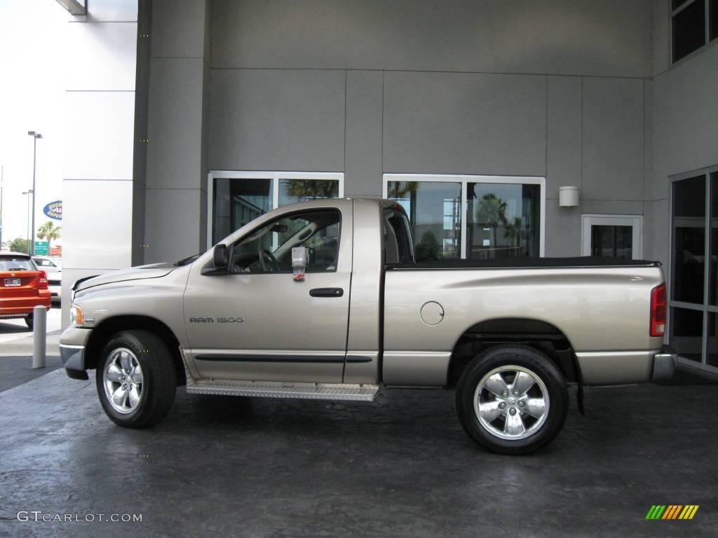 2005 Ram 1500 SLT Regular Cab 4x4 - Light Almond Pearl / Taupe photo #5