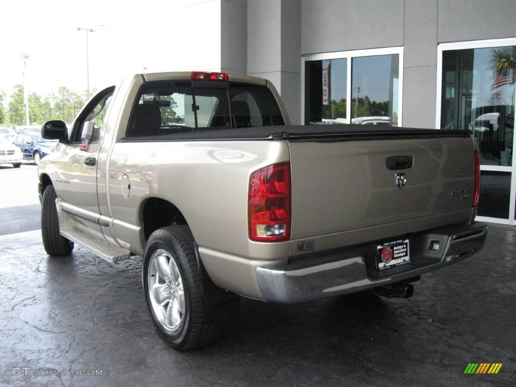 2005 Ram 1500 SLT Regular Cab 4x4 - Light Almond Pearl / Taupe photo #6