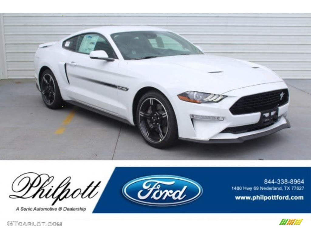 2019 Mustang California Special Fastback - Oxford White / Ebony w/Miko Suede and Red Accent Stitching photo #1