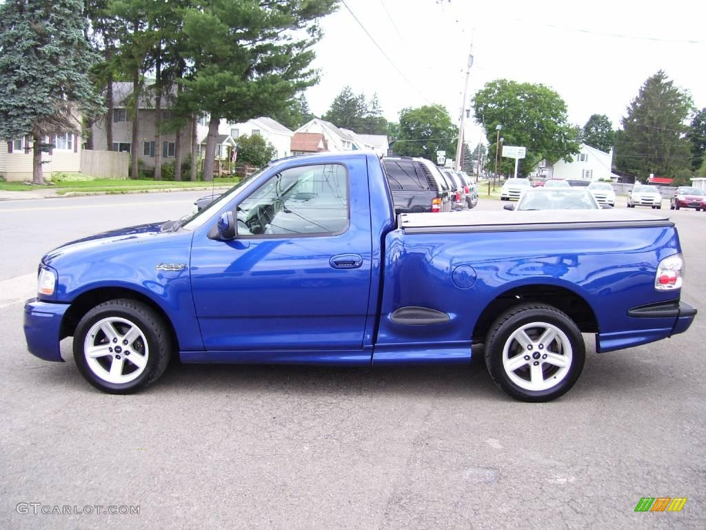 Sonic Blue Metallic 2003 Ford F150 SVT Lightning Exterior Photo 13326588