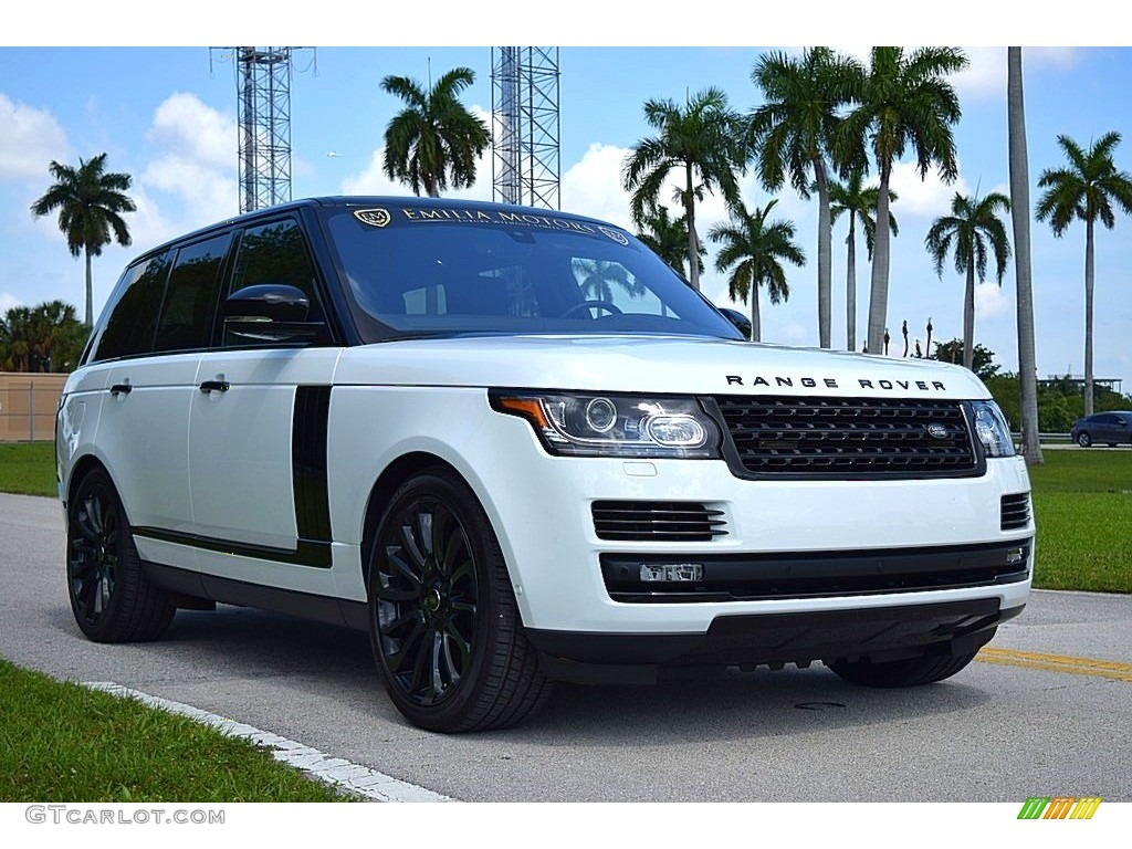 2017 Range Rover Supercharged - Fuji White / Ebony/Ebony photo #1