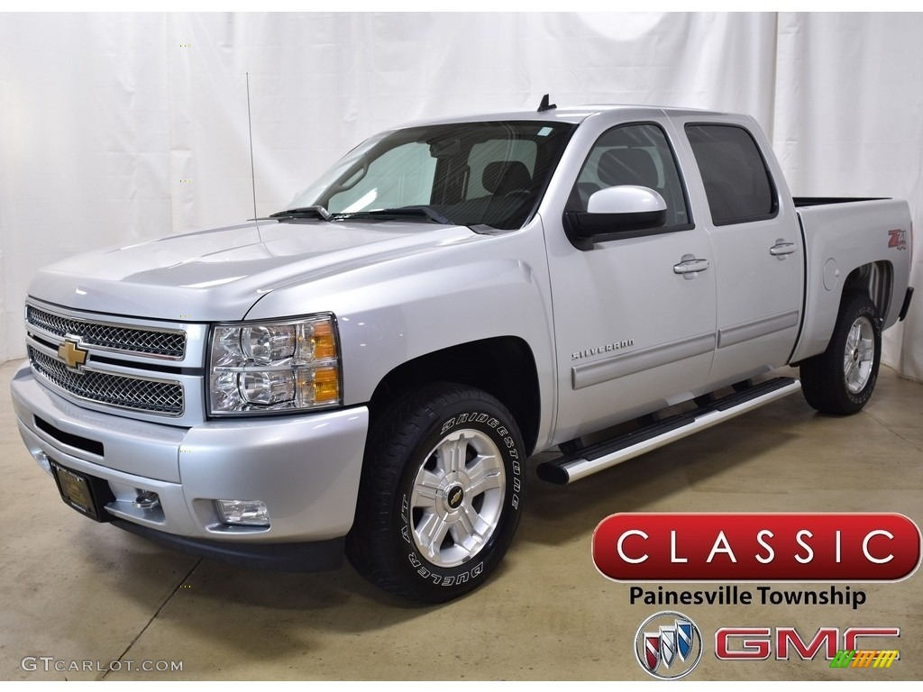 2013 Silverado 1500 LT Crew Cab 4x4 - Silver Ice Metallic / Ebony photo #1
