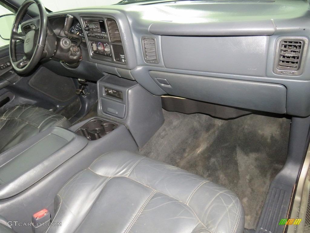 2002 Silverado 1500 LT Extended Cab 4x4 - Medium Charcoal Gray Metallic / Graphite Gray photo #24