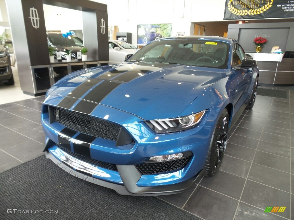2019 Mustang Shelby GT350 - Performance Blue / GT350 Ebony Leather/Miko Suede photo #1