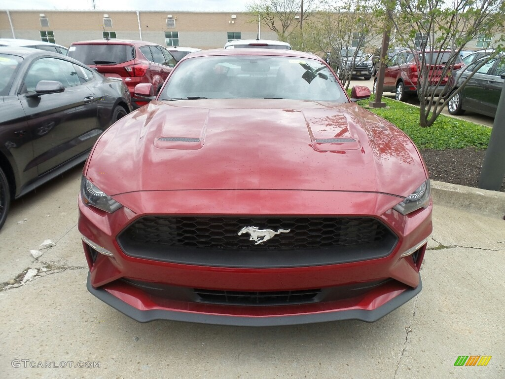 2019 Mustang EcoBoost Fastback - Ruby Red / Ebony photo #2