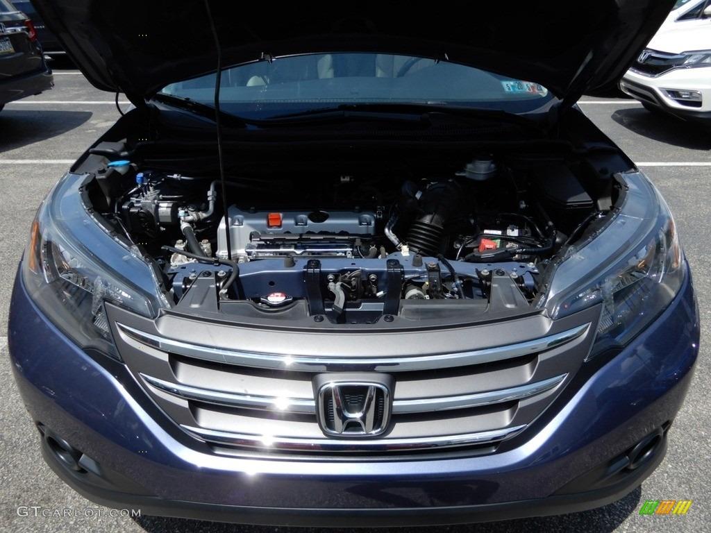 2014 CR-V EX-L AWD - Twilight Blue Metallic / Gray photo #11