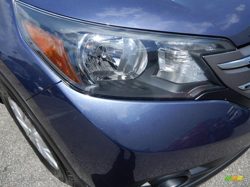 2014 CR-V EX-L AWD - Twilight Blue Metallic / Gray photo #14