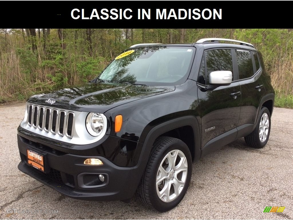 2016 Renegade Limited 4x4 - Black / Black photo #1
