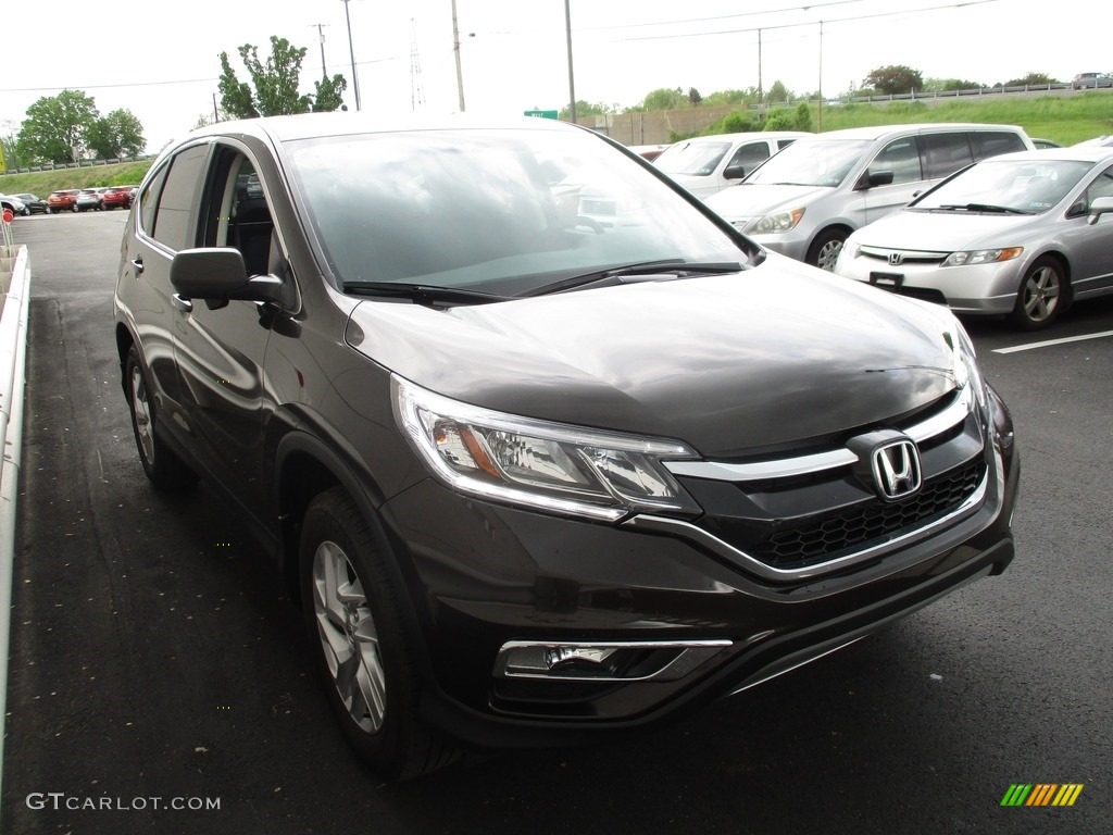 2016 CR-V EX AWD - Kona Coffee Metallic / Black photo #7