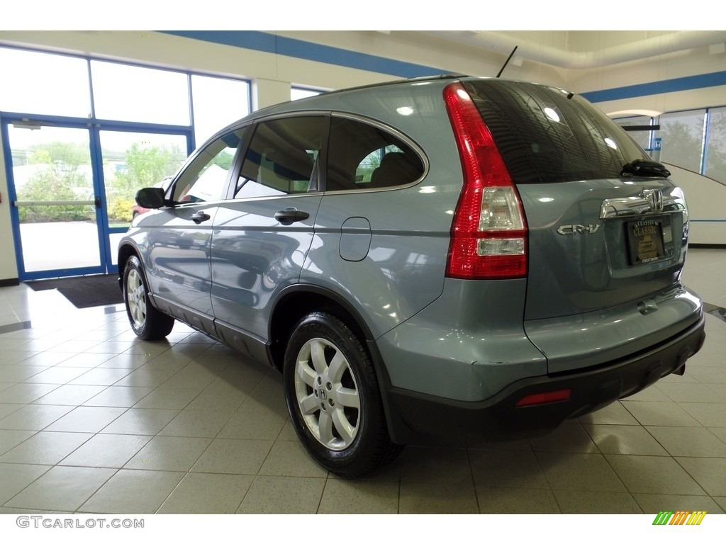 2009 CR-V EX 4WD - Glacier Blue Metallic / Gray photo #7
